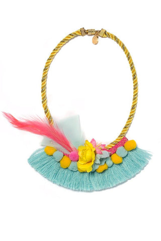 Modern Queen Kids Garden Bouquet Necklace available for rent from The Borrowed Boutique.