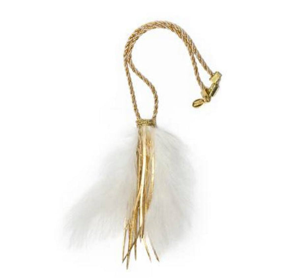 Modern Queen Kids Golden Galaxy Necklace in White available for rent from The Borrowed Boutique.