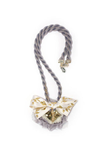 Modern Queen Kids Kingdom Stone Necklace in Grey available for rent from The Borrowed Boutique.