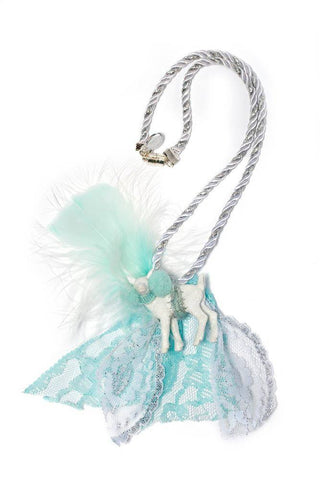 Modern Queen Kids Magical Creatures Darling Deer Necklace in Seafoam available for rent from The Borrowed Boutique.
