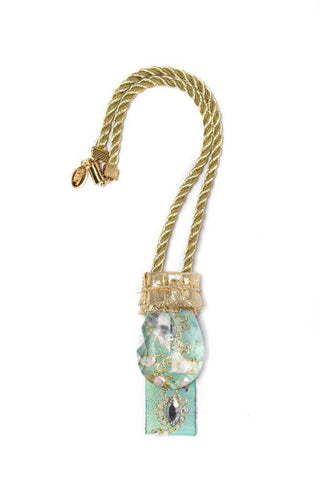 Modern Queen Kids Queen's Chandelier Necklace in Seafoam available for rent from The Borrowed Boutique.