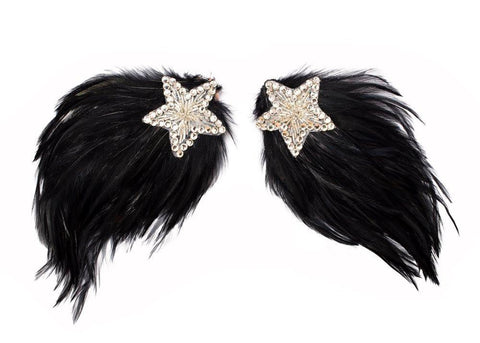 Modern Queen Kids Shooting Star Wings in Black available for rent from The Borrowed Boutique.