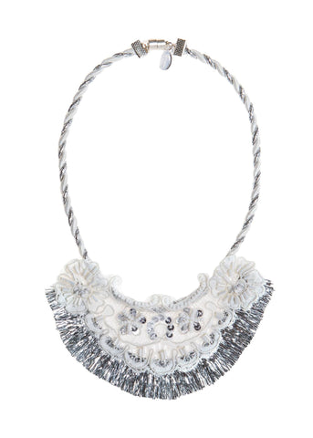Modern Queen Kids A Sparkly Night Necklace in White available for rent from The Borrowed Boutique.