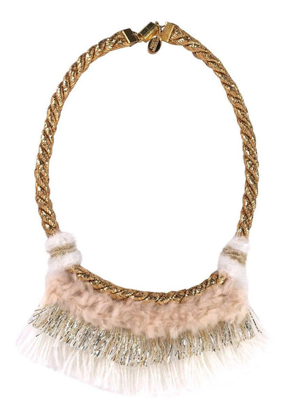 Modern Queen Kids Summer's Night Necklace in Blush available for rent from The Borrowed Boutique.