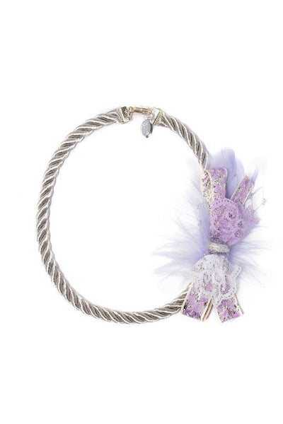 Modern Queen Kids Winter's Corsage Necklace in Lavender available for rent from The Borrowed Boutique.