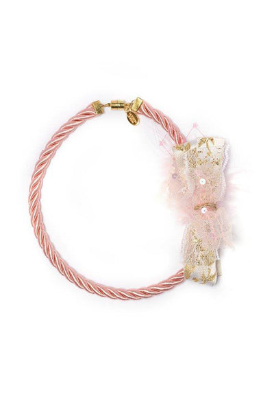 Modern Queen Kids Winter's Corsage Necklace in Rose available for rent from The Borrowed Boutique.