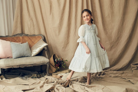 Nellystella Adina Dress In Periwinkle Dust Polkadot