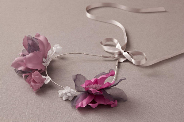 Nellystella Jasmine Headband in Deep Purple available for rent from The Borrowed Boutique.