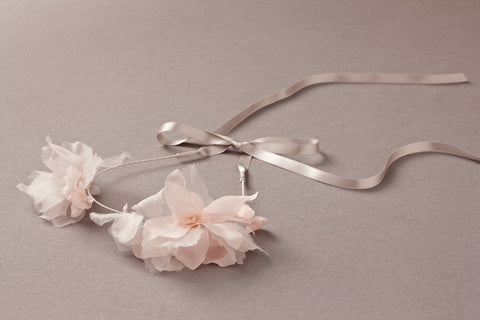 Nellystella Jasmine Headband in Pale Pink available for rent from The Borrowed Boutique.