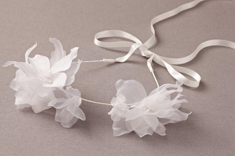 Nellystella Jasmine Headband in White available for rent from The Borrowed Boutique.