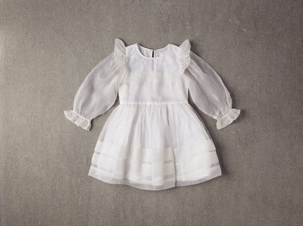 Nellystella Liesl Dress in White available for rent from The Borrowed Boutique.