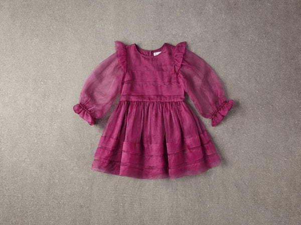 Nellystella Liesl Dress in Dahlia Mauve available for rent from The Borrowed Boutique.