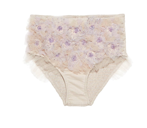 Tutu Du Monde Oasis Bloom Shorts in Cookie available for rent from The Borrowed Boutique.