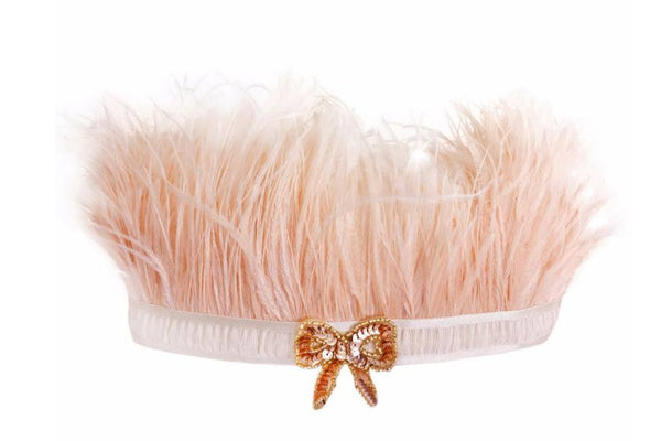 Oh Baby! Lilly Crown Bow in Gold and Peach