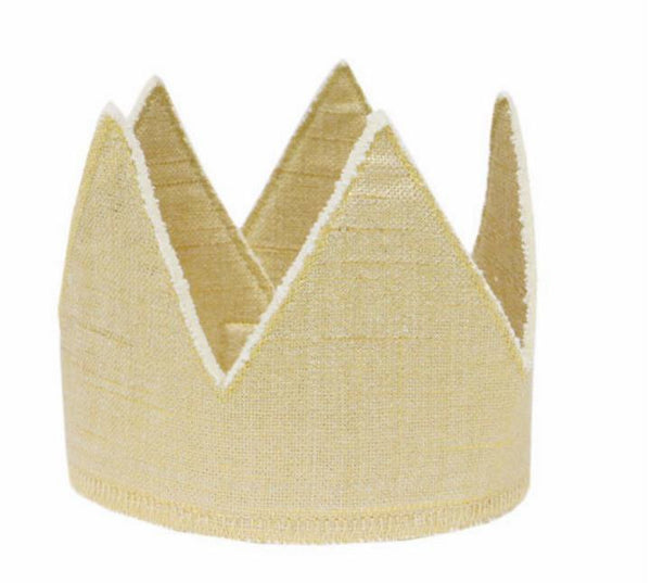 Oh Baby! Metallic Linen Crown in Sparkle Gold