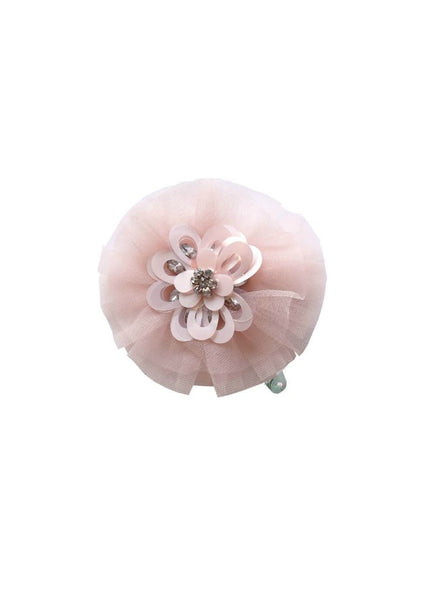 Tutu Du Monde Posy Hairclip In Rose. Available for rent from The Borrowed Boutique.