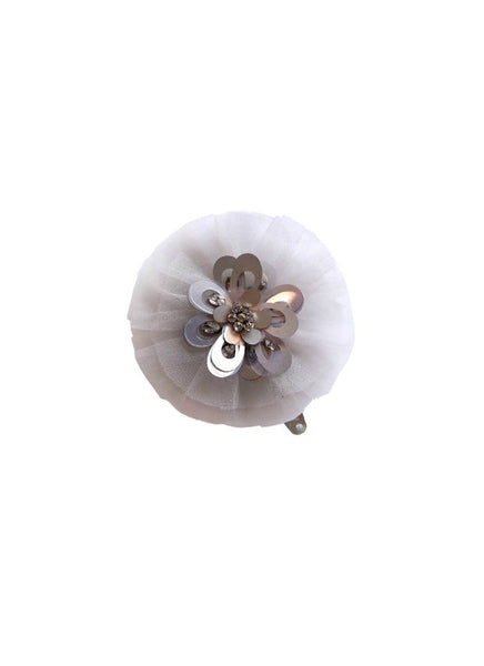 Tutu Du Monde Posy Hairclip In Silverlining. Available for rent from The Borrowed Boutique.