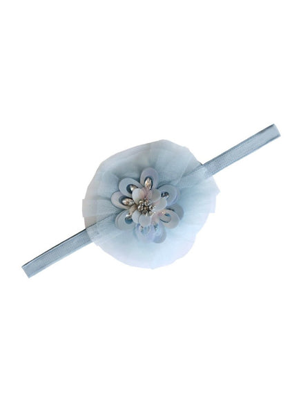 Tutu Du Monde Posy Headband In Winters Ice. Available for rent from The Borrowed Boutique.