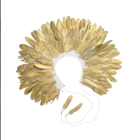 Project 6 NY Kids Gold Feather Collar available for rent from The Borrowed Boutique.