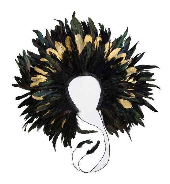 Project 6 NY Kids Gold and Black Feather Collar available for rent from The Borrowed Boutique.