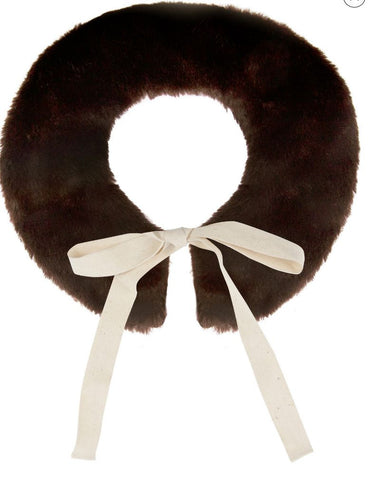 Project 6 NY Kids Mocha Brown Wisteria Collar available for rent from The Borrowed Boutique.