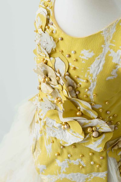 Soapbox Royal Icing Gown In Yellow and Gold