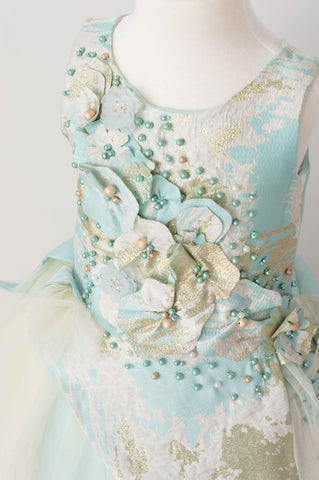 Soapbox Royal Icing Gown In Blue and Gold