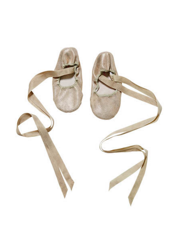 Tutu Du Monde En Pointe Ballet Flats in Gold available for rent from The Borrowed Boutique.