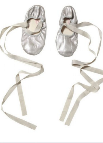 Tutu Du Monde En Pointe Ballet Flats in Silver available for rent from The Borrowed Boutique.