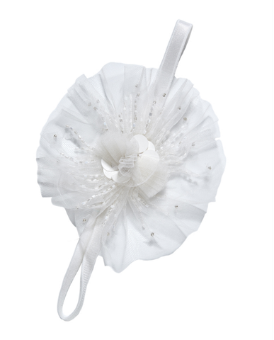 Tutu Du Monde Angel Cake Headband in Milk available for rent from The Borrowed Boutique.