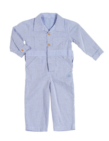 Blu Pony Vintage Coverall in Baby Blue