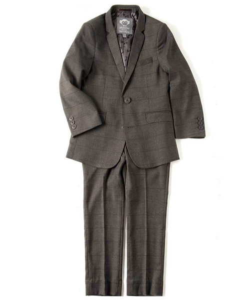 Appaman boys Mod Suit Jacket In Charcoal Wales Check available to rent from The Borrowed Boutique.