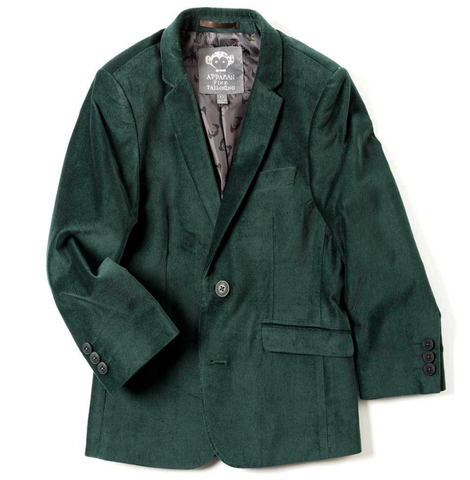 Appaman Boys Forest Green Velvet Mod Blazer