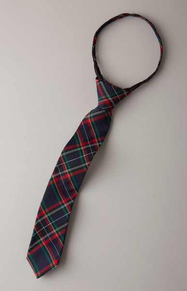 Boys Plaid Neck Tie