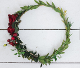Rent the Miss Stevi Marie Deep Rich Toned Reds and Greenery Berry Flower Crown.