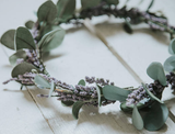 Miss Stevi Marie French Lavender Flower Crown available for rent from The Borrowed Boutique.