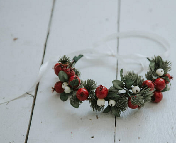 Miss Stevi Marie Retro Berry Crown with Red and White Berries
