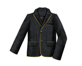 Lazy Francis Black Corduroy Boys Jacket with Gold Trim