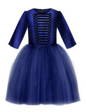 Lazy Francis Navy Blue Velvet Top Tin Soldier Girls Tutu Dress