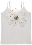 Tutu Du Monde GLISTENING JEWELS SINGLET TOP in Dove