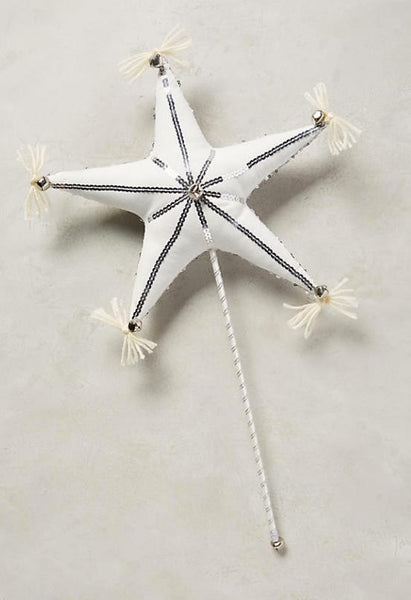Sparkly Star Wand in Silver available for rent from The Borrowed Boutique.