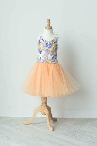 Wrare Doll Spring Fever Knee Length Tutu Dress in Melon