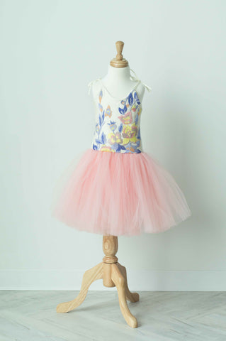 Wrare Doll Spring Fever Knee Length Tutu Dress in Rose