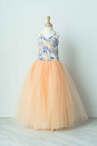 Wrare Doll Spring Fever Maxi Tutu Dress In Melon