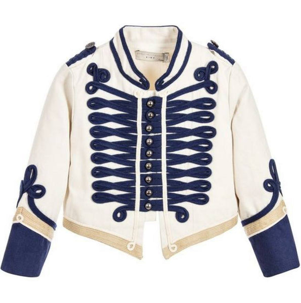 Stella McCartney Ivory Military Jacket available for rent from The Borrowed Boutique.