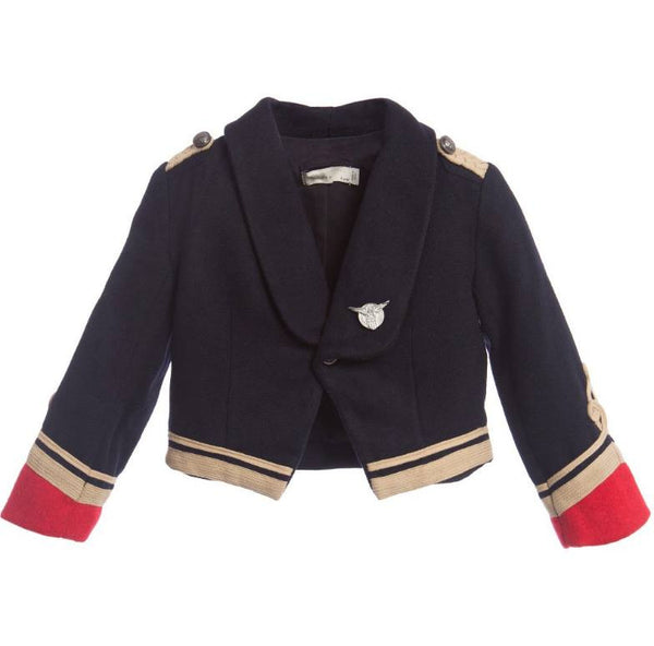 Stella McCartney Lee Military Jacket in Blue available for rent from The Borrowed Boutique.