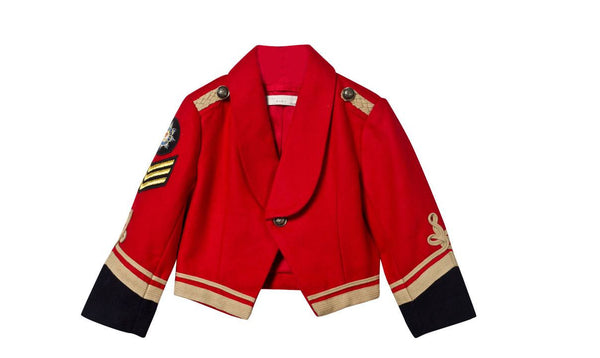 Stella McCartney Military Lee Jacket in Red for rent from The Borrowed Boutique.