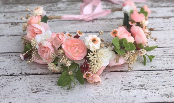 Stellina Mia Mary Had a Little Lamb Pink Floral Halo available for rent from The Borrowed Boutique.