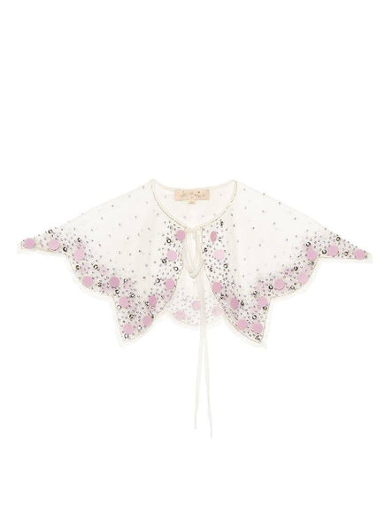 Tutu Du Monde Stolen Jewels Cape in Milk/Lilac available for rent from The Borrowed Boutique.