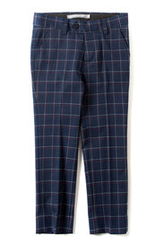 Appaman's Boys Mod Suit Pant In Navy Windowpane.